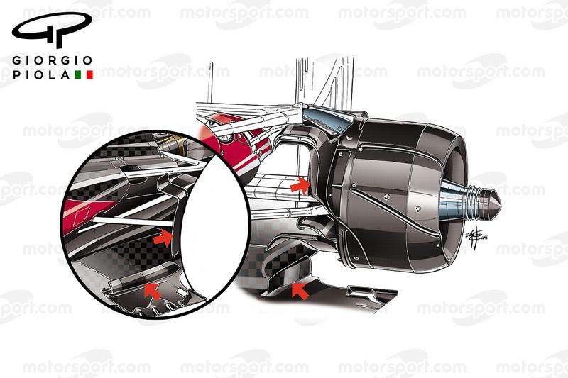 Порівнння повітрозабірників задніх гальм Ferrari SF16-H, Гран Прі Бразилії