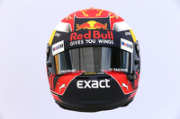 The helmet of Max Verstappen, Red Bull Racing RB13