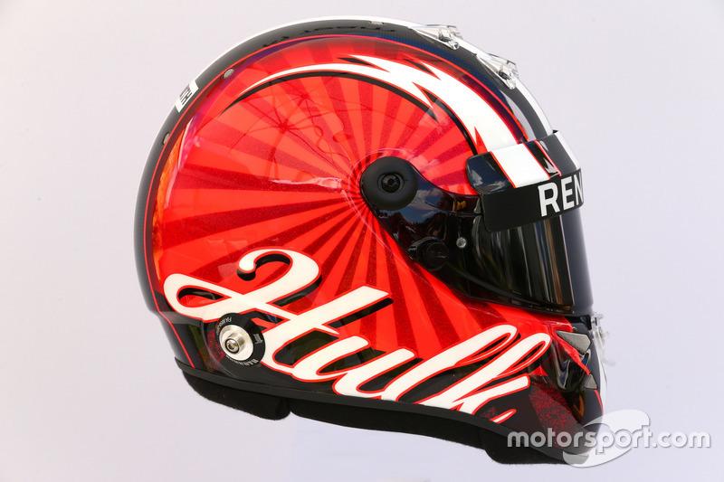 Le casque de Nico Hulkenberg, Renault Sport F1 Team RS17