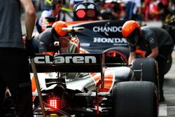 Гонщики McLaren Стоффель Вандорн и Фернандо Алонсо на пит-лейне