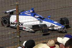 Crash: Takuma Sato, Rahal Letterman Lanigan Racing, Honda (Screenshot)