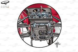 Передняя подвеска Ferrari SF70H