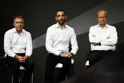 (L to R): Bob Bell, Renault Sport F1 Team Chief Technical Officer with Cyril Abiteboul, Renault Sport F1 Managing Director and Jerome Stoll, Renault Sport F1 President