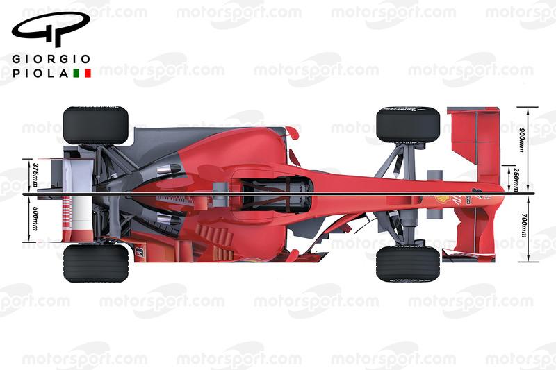 Comparaison de haut de la Ferrari F2008 et F60
