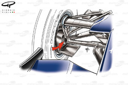 Williams FW30 front brake duct