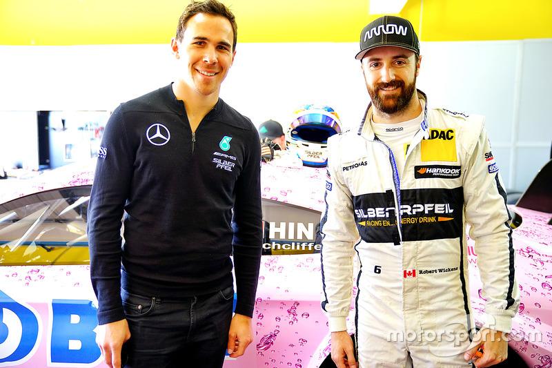 James Hinchcliffe, Team HWA AG, Mercedes-AMG C 63 DTM mit Robert Wickens