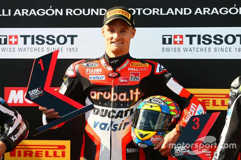 Polesitter Chaz Davies, Ducati Team