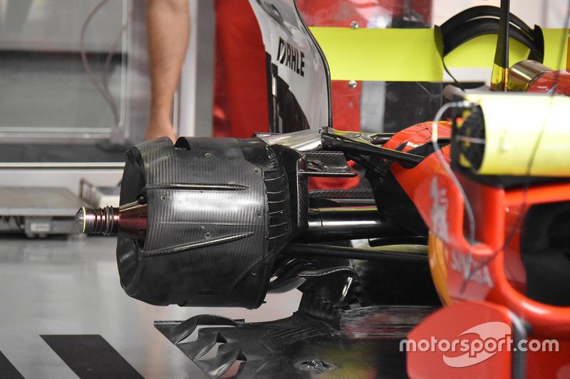 法拉利SF70H赛车后部细节图