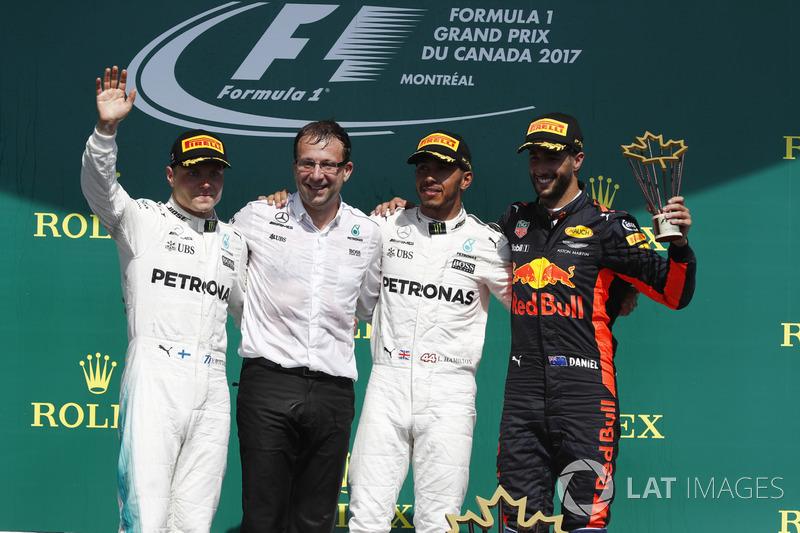 Kanada GP - Kazanan Lewis Hamilton, 2. Valtteri Bottas, 3. Daniel Ricciardo