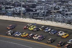 Kurt Busch, Stewart-Haas Racing Ford gets turned