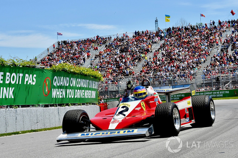 Jacques Villeneuve, Sky Italia drives his Fathers 1978 Canadian GP winning Ferrari 312T3