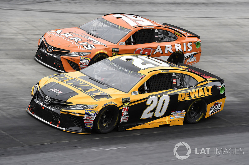 Erik Jones, Joe Gibbs Racing, Toyota Camry DeWalt and Daniel Suarez, Joe Gibbs Racing, Toyota Camry ARRIS