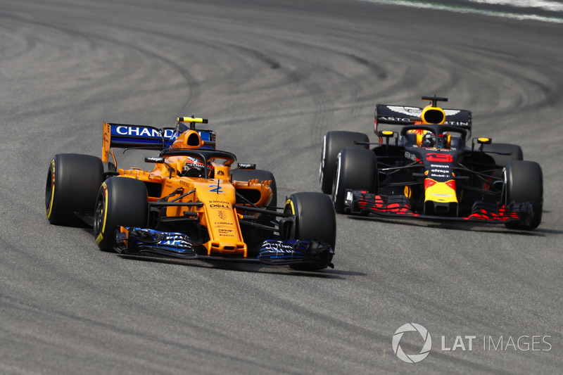 Стоффель Вандорн, McLaren MCL33, Даніель Ріккардо, Red Bull Racing RB14
