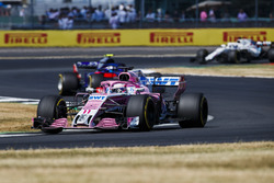 Sergio Perez, Force India VJM11, leads Pierre Gasly, Toro Rosso STR13