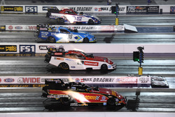 Funny Car four wide action