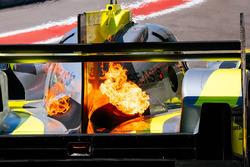 #4 ByKolles Racing Team Enso CLM P1/01: Oliver Webb, Dominik Kraihamer, Tom Dilmann, on fire