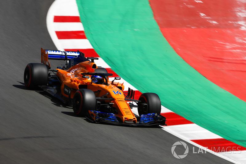 GP da Espanha 2018 – Cinco anos depois da última vitória, Alonso conseguiu pontuar cinco vezes seguidas dentro de uma temporada desde sua saída da Ferrari, após conseguir a saída da Honda na McLaren.