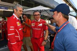 Rubens Barrichello, Maurizio Arrivabene, Ferrari Team Principal