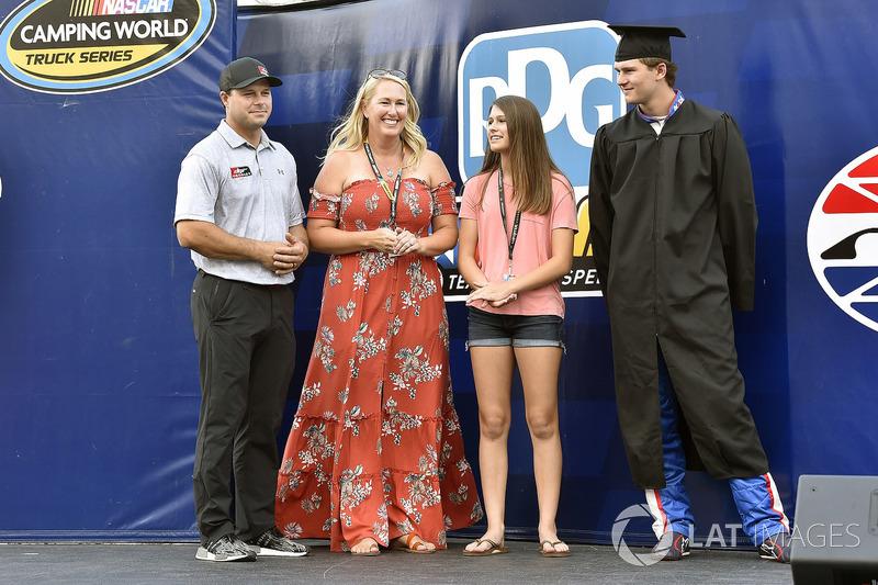Todd Gilliland, Kyle Busch Motorsports, Toyota Tundra Mobil 1 High School Graduation ceremony