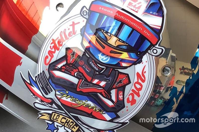 El casco especial de Romain Grosjean para el GP de Francia