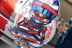 Special French GP helmet for Romain Grosjean