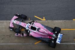Sergio Perez, Sahara Force India F1 and Esteban Ocon, Sahara Force India F1, the new Sahara Force India VJM11