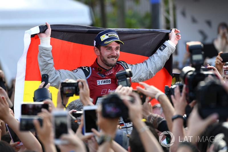 Race winner Daniel Abt, Audi Sport ABT Schaeffler celebrates victory