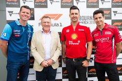 Garth Tander, Garry Rogers Motorsport, racing legend Larry Perkins, Fabian Coulthard, Team Penske and Rick Kelly, Nissan Motorsports