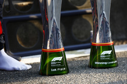 The winning drivers and constructors trophy