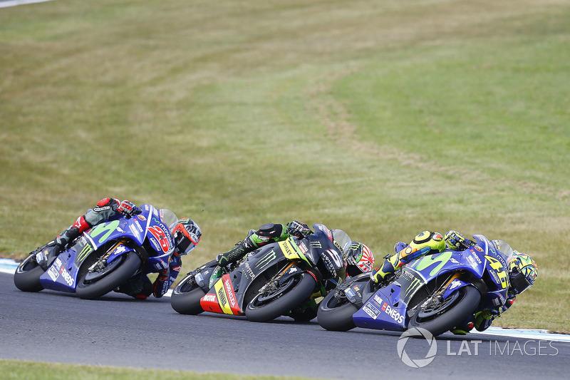Valentino Rossi, Yamaha Factory Racing, Johann Zarco, Monster Yamaha Tech 3, Maverick Viñales, Yamaha Factory Racing