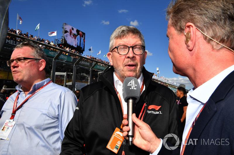 Joe Saward, Journalist, Ross Brawn, Formula One Managing Director of Motorsports and David Coulthard