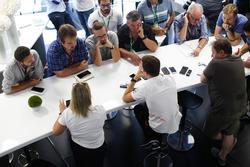 Stoffel Vandoorne, McLaren, rencontre la presse