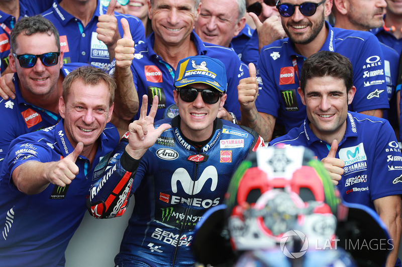 Podio Maverick Viñales, Yamaha Factory Racing