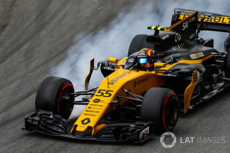 Carlos Sainz Jr., Renault Sport F1 Team RS17, bloquea los frenos