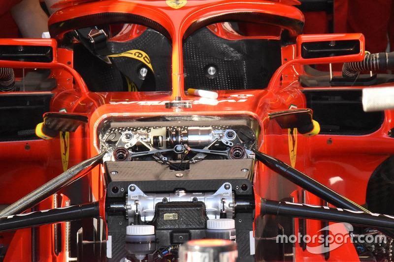 Ferrari SF71H ön süspansiyon detay