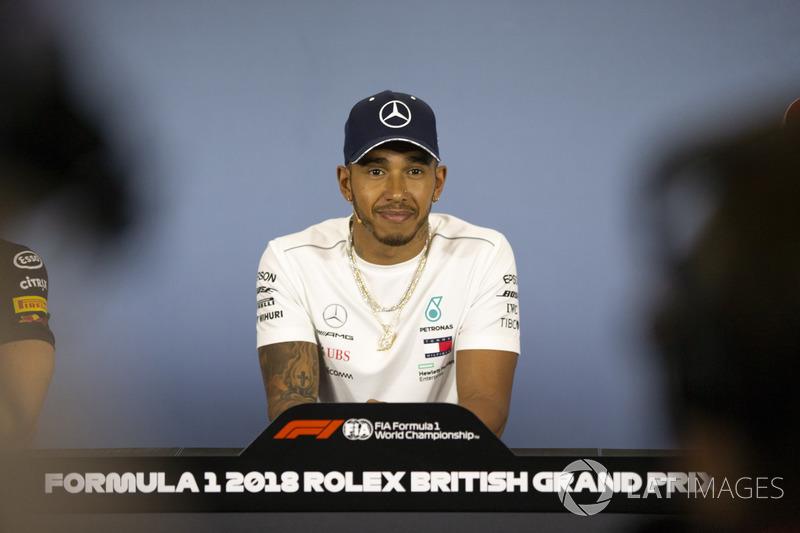 Lewis Hamilton, Mercedes-AMG F1, nella conferenza stampa