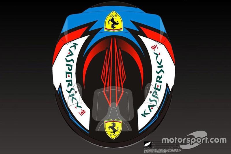 Casco de Kimi Raikkonen, Ferrari