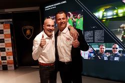Armando Donazzan, Orange1 Racing teameigenaar, en teammanager Gottfried Grasser, GRT