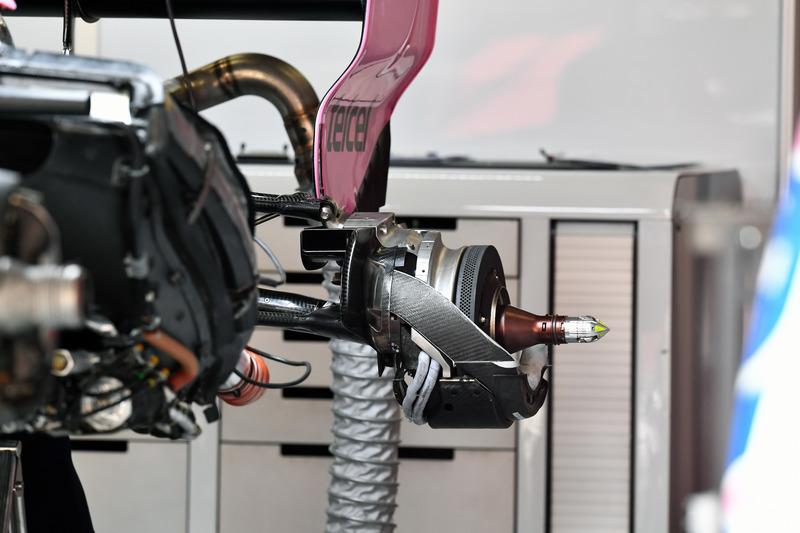 Force India VJM11 buje de la rueda