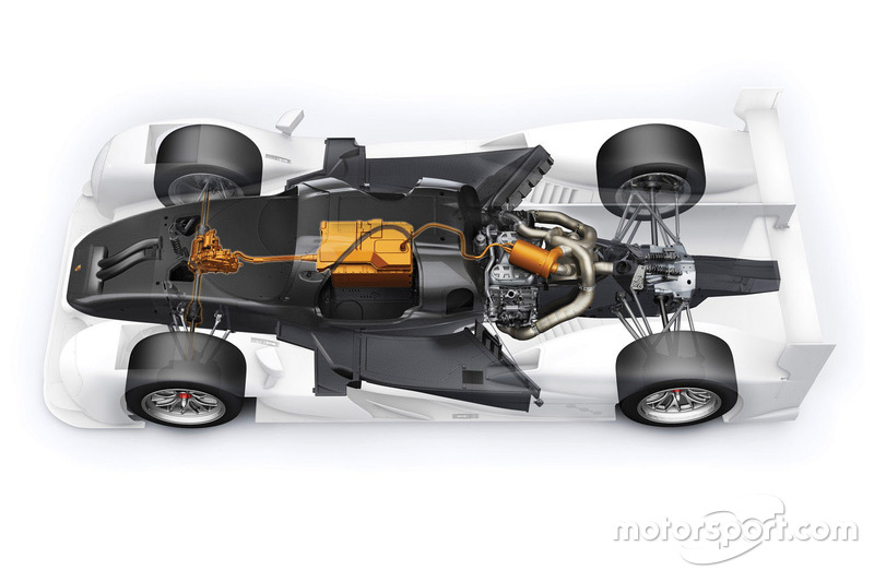 Porsche 919 Hybrid Evo, Porsche Team powertrain detail
