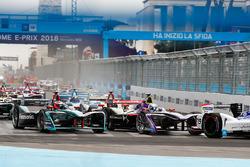 Felix Rosenqvist, Mahindra Racing, Sam Bird, DS Virgin Racing, Mitch Evans, Jaguar Racing, lider