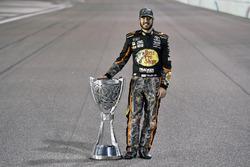 Martin Truex Jr., Furniture Row Racing Toyota celebrates winning the 2017 Monster Energy Cup Series Championship