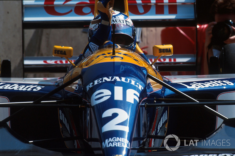 Ganador de la carrera Alain Prost, Williams FW15C
