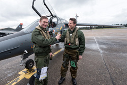 Christophe Tinseau with a French Air Force fighter pilot ridealong