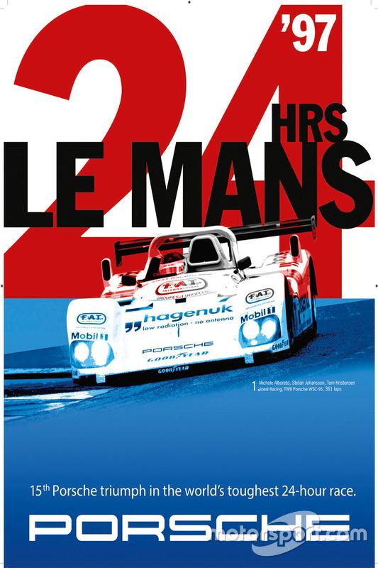 Poster: Porsche-Sieg bei den 24h Le Mans 1997