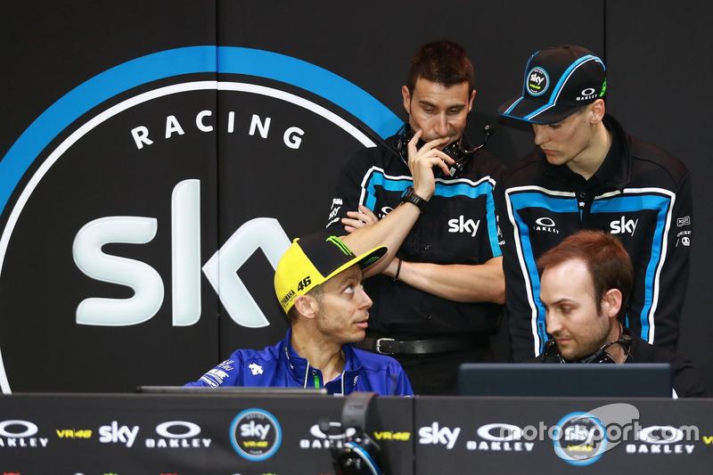 Stefano Manzi, Sky Racing Team VR46, mit Valentino Rossi