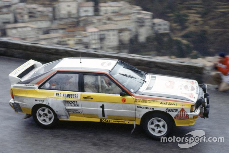 Walter Rohrl Christian Geistdorfer Audi Quattro A At Rally Monte - Walter audi
