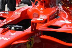 Espejo en el SF70H de Ferrari de Sebastian Vettel