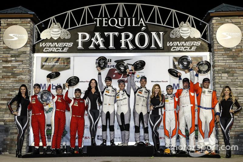 GTD-Podium: 1. #33 Riley Motorsports, Mercedes AMG GT3: Jeroen Bleekemolen, Ben Keating, Mario Farnb