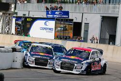 Toomas Heikkinen, EKS RX, Audi S1; Mattias Ekström, EKS RX, Audi S1